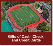 Rollover image of an aerial view of the football field. Link to Gifts of Cash, Check, and Credit Cards.